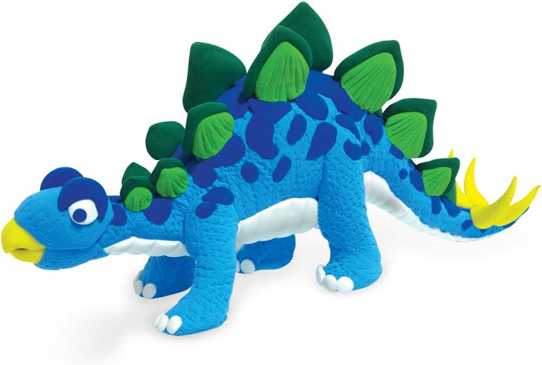 Jumping Clay Clay Clay Kinderknete, C2-3 Colourful Dinosaur Set Stegosaurus B007H4PZIO | Starke Hitze- und Hitzebeständigkeit  ad695f