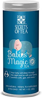 Baby Colic Babies' Magic Tea- N1 Baby Colic, Gas & Acid Reflux Relief-USDA Organic- MUST BE USED 3 TO 4 TIMES A DAY- 20 Sanitized T Bags- Up to 80 Servings. No Chemicals
