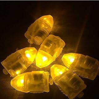 LEDMOMO 50 unidades de luces LED para globos, farolillos de papel, decoración (amarillo)