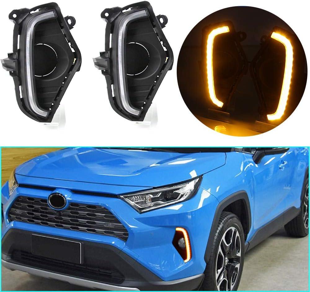 jialaiwo LED DRL Fresno Mall Light Three-Color free 2019-2020 RAV4 for Toyota Not