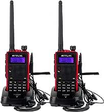Retevis RT5 Long Range Walkie Talkies Dual Band VHF/UHF 128 CH VOX FM Two Way Radio(2 Pack)