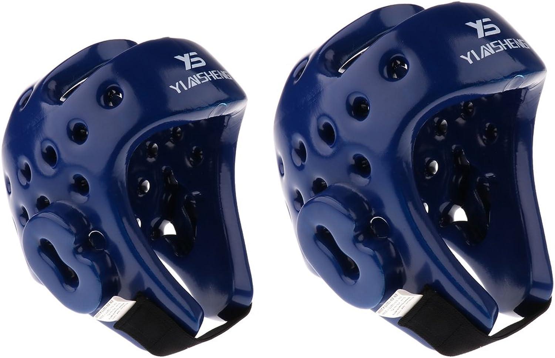 Homyl 2Pcs Adult Junior Boxing Head Guard PU Leather Face Predector Helmet Gear