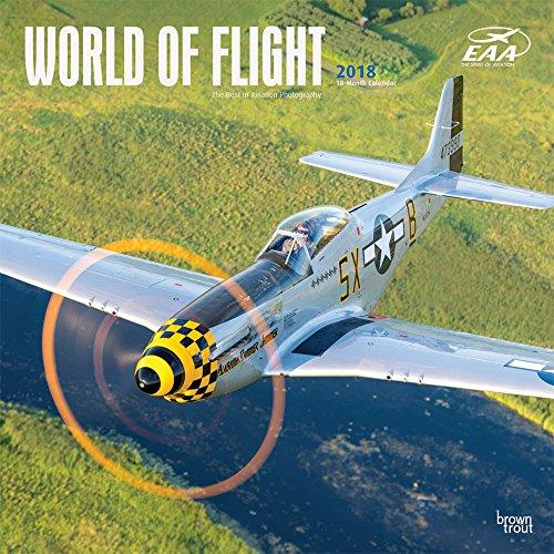 World of Flight - Motorflugzeuge 2018 - 18-Monatskalender: Original BrownTrout-Kalender [Mehrsprachi
