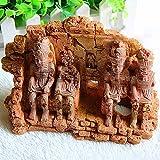 GCSEY Paisaje del Acuario del Acuario Decoración Faraón Egipcio Perdido Templo Crafts Adornos Dodge House
