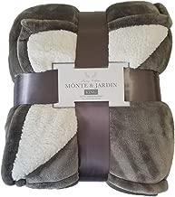 Monte & Jardin Velvet Sherpa Blanket King Tan