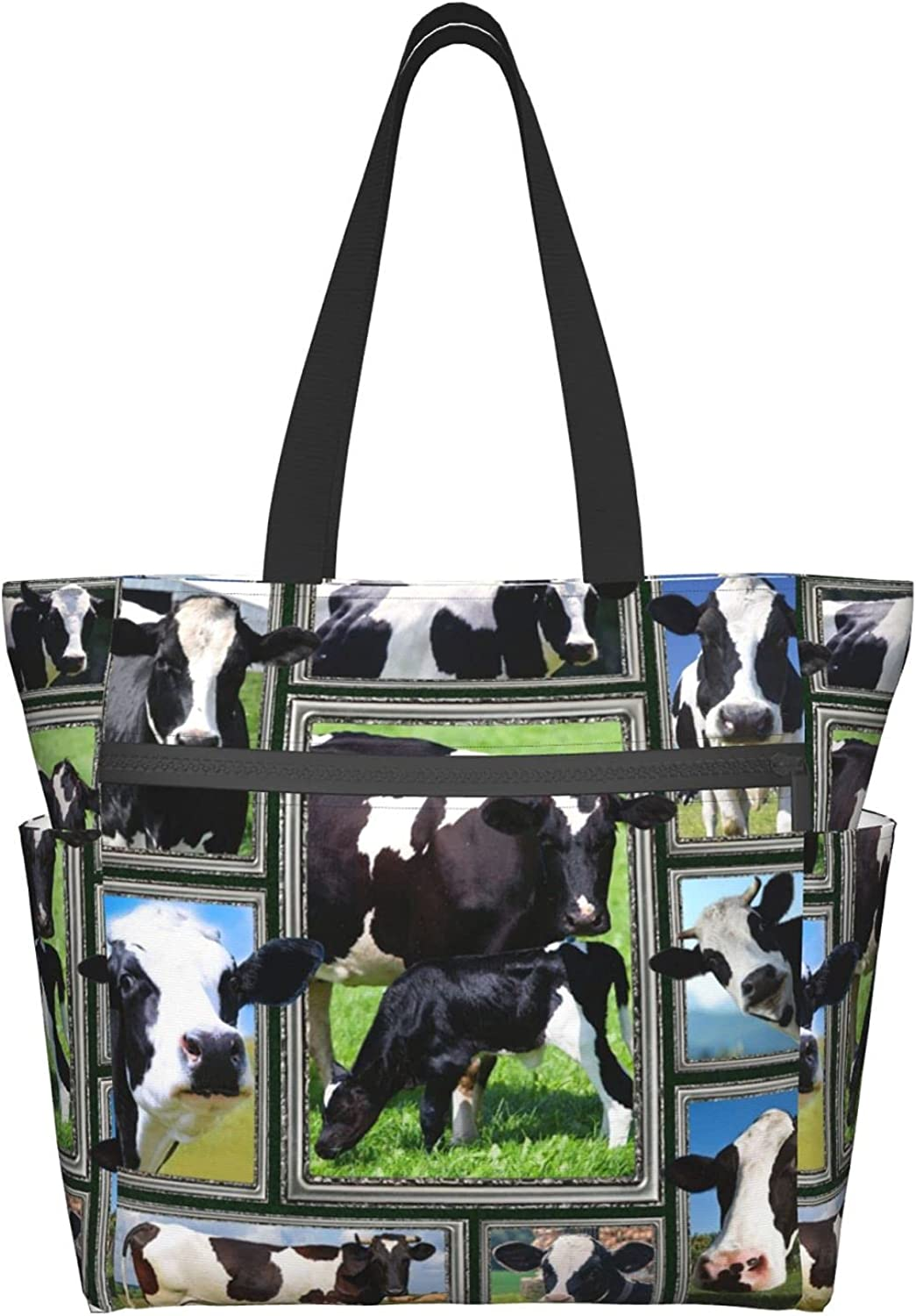 Tote Bag with Large-scale sale Zipper for Women Max 70% OFF Bags Handbag Cattle Daily f Purse