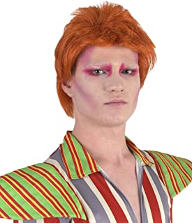Legendary 70's Biritsh Pop Star Wig, Red Adult HM-061, Brown