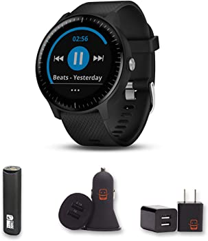 Garmin Vivoactive 3 Music (Black) GPS Smartwatch Bundle