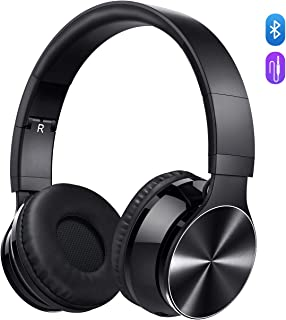 [Upgraded] VicTsing 055 Bluetooth Headphones Over Ear, Wireless Stereo Headset, Up to 8-10 hrs, Built-In CVC 6.0 Microphone Supports Hands-Free Calling and Wired Mode for PC/Cell Phones/TV (Black)