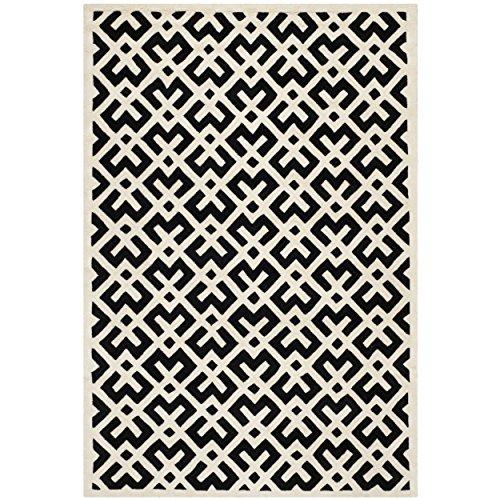 Safavieh Chatham Collection CHT719K Handmade Wool Area Rug, 8' x 10', Black/Ivory