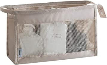 SHENGSHIHUIZHONG Multi-function Travel Cosmetic Bag - Travel Cosmetic Storage Box, Waterproof, Transparent, Portable Latest Style (Color : Off-white)