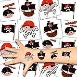 German Trendseller® - 36x Kinder Tattoos - Piraten Set ┃ NEU ┃ Piraten Party ┃ Kindergeburtstag ┃ Mitgebsel ┃ 36 Tattoos