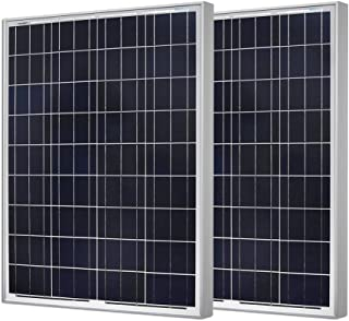 Renogy 2Pcs 100W 12V Solar Panel 200W High Efficiency Module Off Grid PV Power for Battery Charging, Boat, Caravan, RV and Any Other Off Grid Applications
