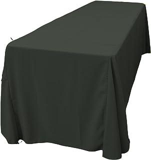 LA Linen Polyester Poplin Rectangular Tablecloth, 90 by 156-Inch, Black