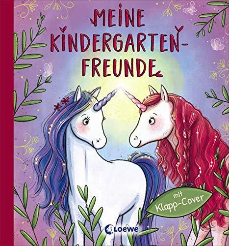 Meine Kindergarten-Freunde (Einhörner): Freundebuch, Eintragbuch, Poesiealbum mit Wendecover für Kinder ab 3 Jahre (Eintragbücher)
