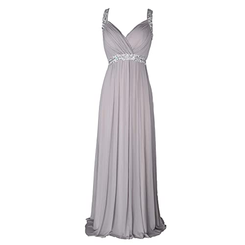 ce8de597 conail Coco Women Ruched Waist Rhinestone Casual Formal Long Wedding  Bridesmaid Dress 6002