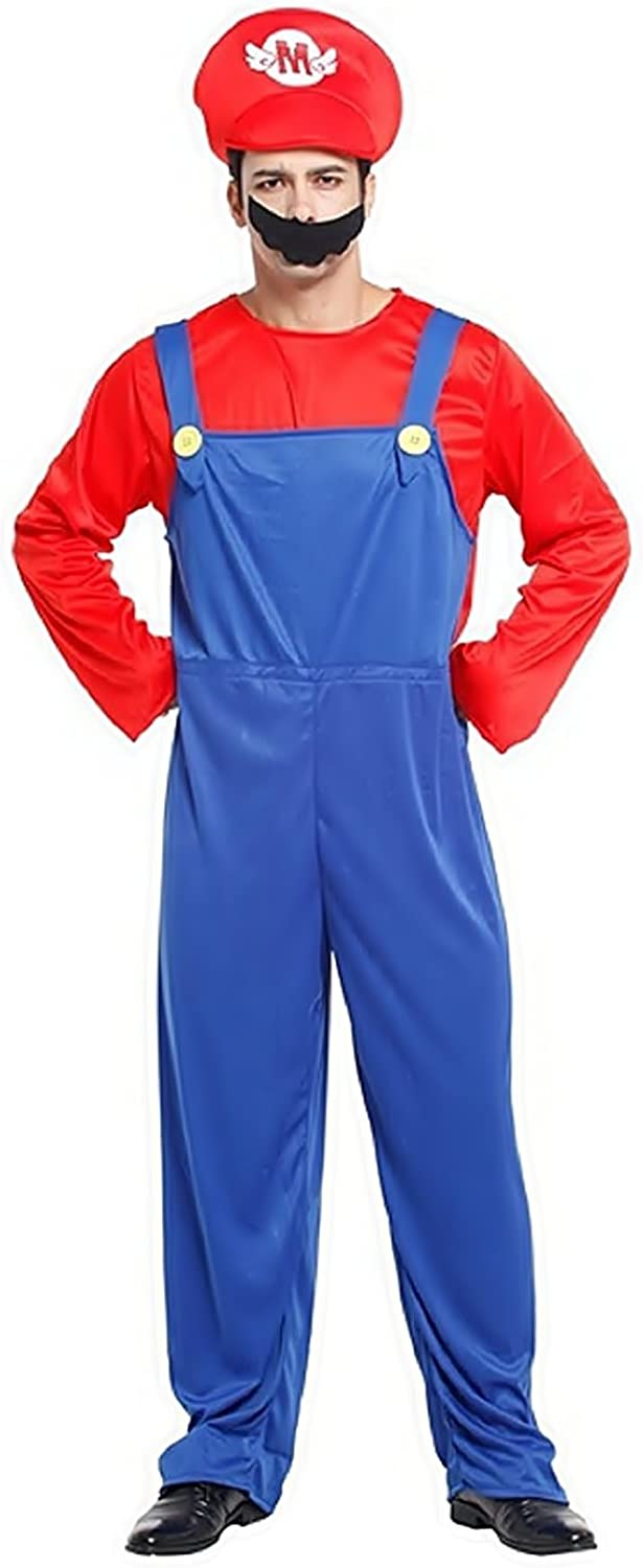 Inception Pro Infinite One size  Costume  Disguise  Carnival  Halloween  Super Mario Bros  Video Games  bluee color  Adults  Man  Boy
