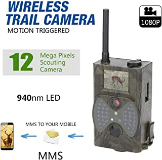 Frecoccialo Cámara de Caza 12MP 1080P Cámara de Exploración de Caza HC-300M Cámara de Vigilancia de Animales Salvajes 940NM Cámara Infrarrojo Digital LED con Visión Nocturna gsm IR