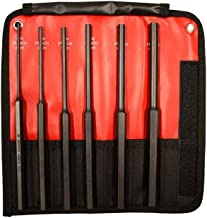Mayhew Tools 62081 6-Piece Hardened Steel Long Pin Punch Set (Metric)
