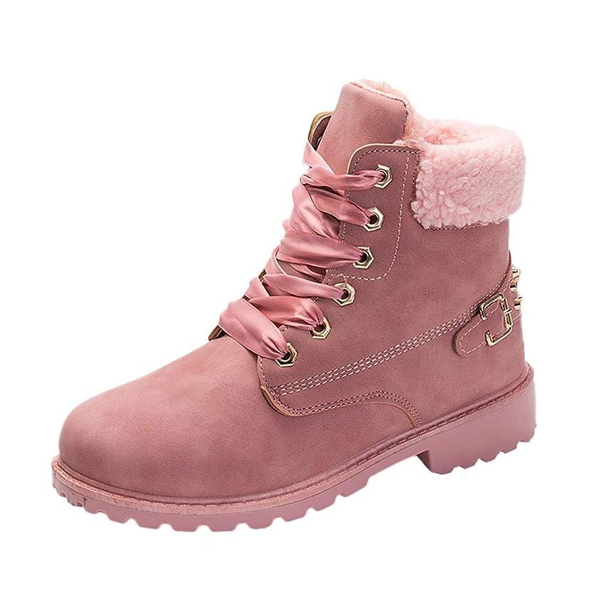 Shusuen ??? Women's Winter Snow Boots Lace up Buckles Strap Warm Ankle Mid Flat Boot Warm Fur Lined Sneaker