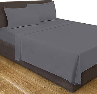 Utopia Bedding Full Flat Sheet (Grey)