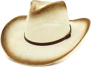 XinLin Du Western Cowboy National Wind Straw Hat Women Outdoor Beach Hat Fashion Belt Decorative Sunhat
