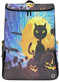 Travel Backpack Halloween Party With Cat School Backpack for Men Large Carry On Bookbag