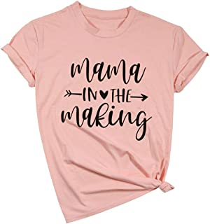 Mama in The Making Shirt Pregnancy Announcement Shirts Preggers T Shirt Pregnancy Reveal Shirts Pregnant Shirts Announcement