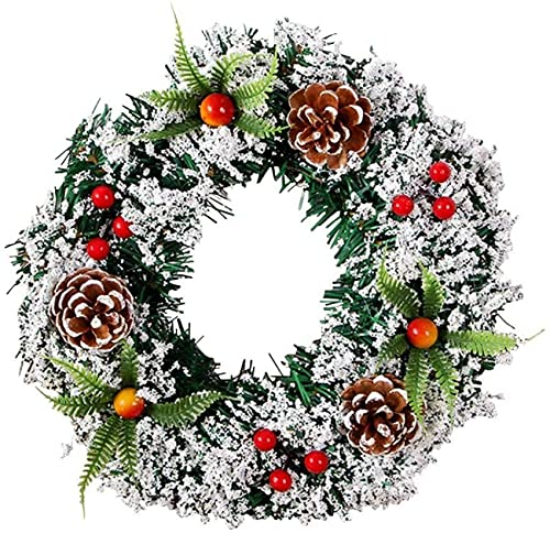 RTYUI Artificial Chwreath Garlands With Pine Cone Berries Door Wall Hanging Decorative Ornaments Gifts Chparty