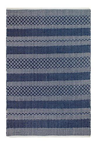 FAB HAB Mir - Tapis Bleu en Polyéthylène recyclé (Fibres Polyester) pour intérieur/extérieur (60 cm x 90 cm)