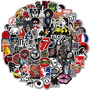 Cool Rock Band Stickers 200Pcs Punk Rock and Roll Music Stickers for Teens Adults Laptop Water Bottles Skateboard Stickers for Guitar Car Graffiti Stickers