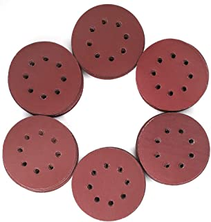 120PCS 5 Inch 8 Holes Sanding Discs - 1000 1200 1500 2000 2500 3000 Grit Assorted Sandpaper by LotFancy, Hook and Loop Random Orbital Sander Round Sand Paper
