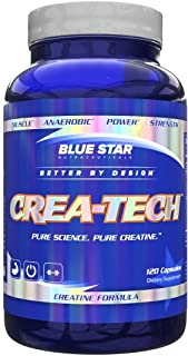 CreaTech Buffered Creatine Capsules: 3 Grams Creapure Buffered Creatine Monohydrate - Creatine Pills that Build Muscle and...
