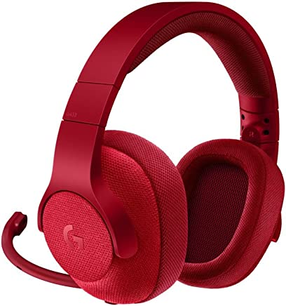 Logitech G433 - Auriculares con micrófono y Cable para Gaming, Sonido Envolvente 7.1, para PC, Xbox One, PS4, Switch, móviles, Rojo