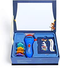 MagiDeal Educational Projector Torch Toys 32 Slides & 4 Fairy Tales Story Book Set - Baby Mini Theater Developmental Games