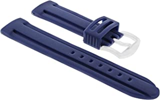24MM Rubber Watch Strap Band for PAM 312 PANERAI 44MM LUMINOR Marina 1950 Blue