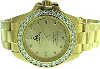 Full Stainless Steel Watch-iced Out Bezel- Genuine CZ-Water Resistant with Box#6