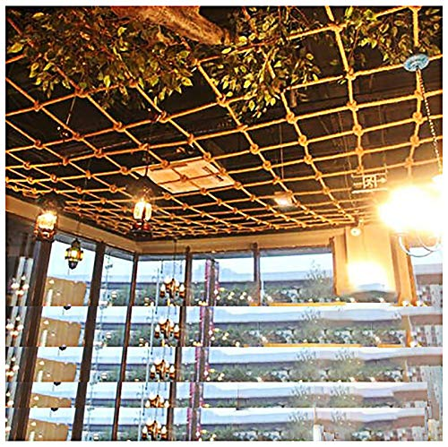 8 Mm * 10 Cm Redes De Seguridad Redes Protectoras Redes De Cuerda De Cáñamo Tejidas A Mano Redes De Seguridad Para Niños Redes Decorativas Redes De Seguridad Para Balcones Escale(Size:6*8m(20*26ft))
