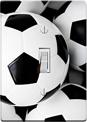 Embossi Printed Maxi Metal Soccer Ball Football Switch Plate Cover Light Switch Outlet Cover Choose Pattern L0109 1 Gang Toggle Amazon Com
