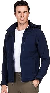 Men's Hooded Softshell Jacket Fleece Lined Tactical Outerwear Jacket, Windproof, Water Resistant