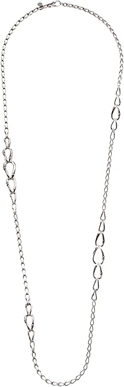 John Hardy Bamboo 14mm Graduated Link Necklace