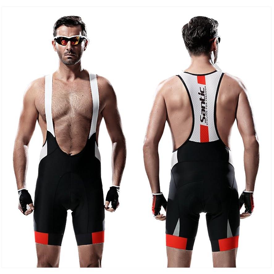 放つグリーンランドだらしないSANTIC メンズ ビブショーツ つなぎ パッド付きパンツ 自転車 サイクリング スポーツ トレーニング(,XL)