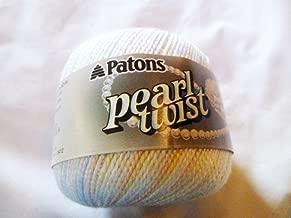 Patons PEARL TWIST Crochet Knitting Yarn - Pastel Multicolor White Blue Pink