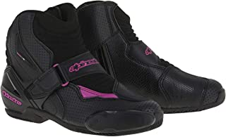Alpinestars Stella S-MX 1R Vented Women's Street Motorcycle Shoes - Black/Pink / 38