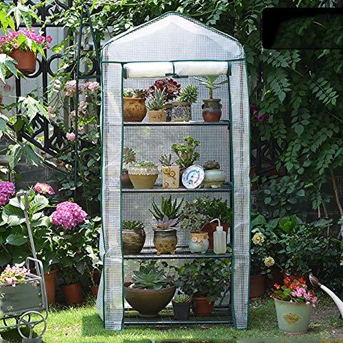 LQQ Tomaten tomatenhaus Outdoor 3/4 Tier Weißes Gewächshaus, Wasserdichtes PE-Growhouse mit Verstärkten Regalen für Gartenwinterpflanzen (Size : 4 Tier(69×49×158cm))