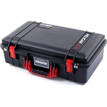 No Foam. Black Pelican 1525 Air case with Blue Handle /& latches