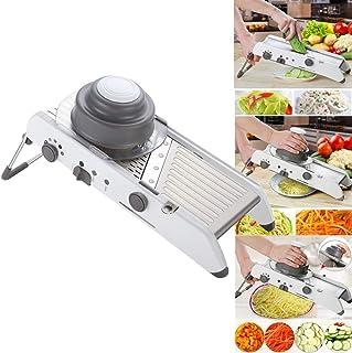 Trancheuse de légumes Mandoline 18 en 1 Hachoir de légumes en acier inoxydable Râpe à lames de sécurité réglable réglable,...