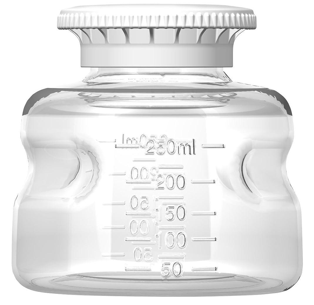 Autofil Polystyrene Non-Sterile Disposable Media Bottle with Polypropylene Cap, 250ml Volume (Pack of 24)