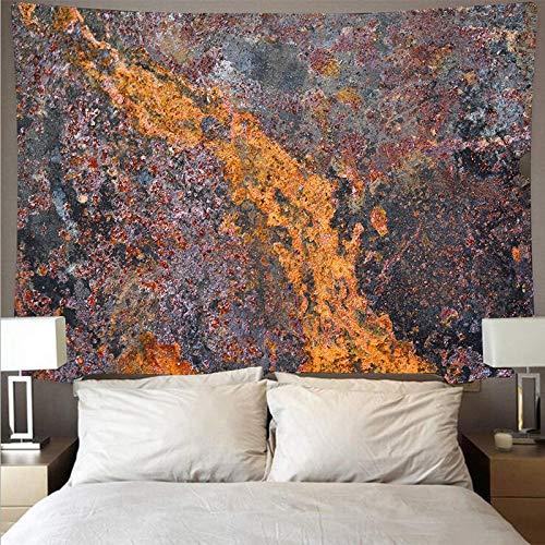 KHKJ Imagen de Metal Oxidado Que Cubre la Pared Tapiz de Arte Grande psicodélico Colgante de Pared Toalla de Playa Manta Fina A4 200x150cm