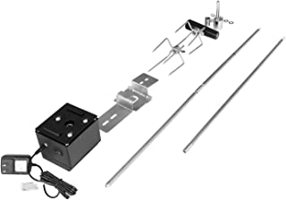 Royal Gourmet Universal Complete Rotisserie Kit for Grills, 36''/50'', 8x8 mm Square Spit Rod, Stainless Steel
